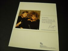 Tina Turner posing with Roger Davies 1987 Promo Display Ad mint condition