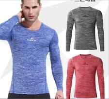 Men's Base Layer Compression Running Fitness Sports Bicycle Tight T-shirt Top