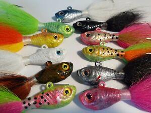 2 oz Handtied Bucktail Jigs Saltwater fishing fluke stripe bass lure
