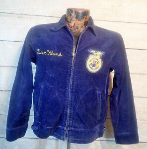 Vintage 70's FFA Corduroy Jacket Farmer Workwear Missouri USA Made Cotton Sz 38