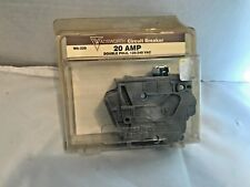 New Wadsworth Circuit Breaker Double Pole 20 Amp WA-220 (A011)