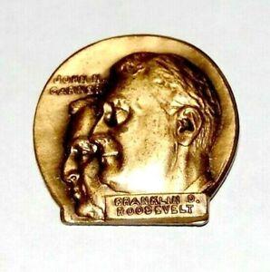 1936 Franklin Roosevelt John Garner NEW DEAL FDR campaign pin pinback button