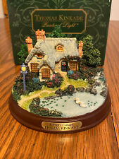 "Thomas Kinkade ""Everett's Cottage"" Lighted Cottage Collection Nib"