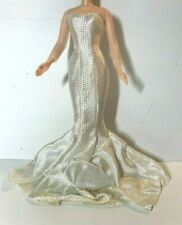 Barbie Hollywood Premiere Glamorous Form Fitting Mermaid Style Shimmering Gown