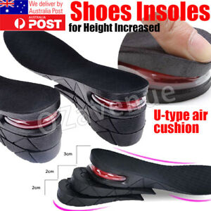 Air Cushion Height Increase Heel Gel Shoes Insoles Inserts Taller Lifts Pad OZ