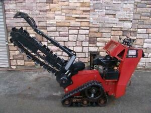 "Toro TRX-20 Walk Behind 48"" Track Crawler Trencher Self-Propelled Works Well"