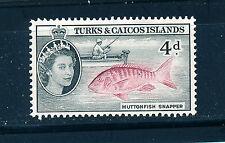 TURKS & CAICOS ISLANDS 1957-60 DEFINITIVES SG242 4d (FISH)  MNH