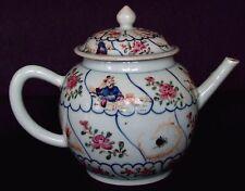 Rare chinois 18th C Qianlong Famille rose mandarin ANIMAUX EN PORCELAINE théière vase