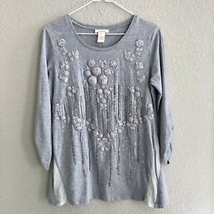 Sundance Catalog Womens S Embroidered Sequin Tunic Top