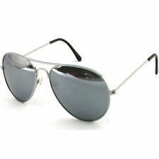 SILVER MIRRORED MIRROR AVIATOR STYLE SUNGLASSES UV PROTECTION LADIES MENS WOMANS