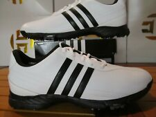 NEW Adidas Golflite Grind 2.0 White Black 10.5 816300 Men Golf Shoes Spikes 2011