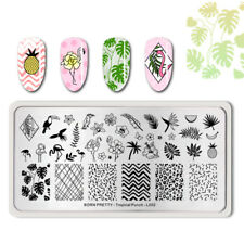 Born Pretty Para Uñas Stamping Placa Flamin patrón tropical-L00