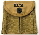 WWII M1 CARBINE RIFLE 15RD BUTT STOCK AMMO POUCH-KHAKI