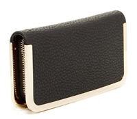 Urban Expressions Vegan Leather Black/Gold Clutch/Wallet