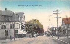 North Abington Massachusetts~Sheehan's News Dealer~Soda~RR Crossing~Bicycle~1908