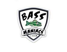 BASS MANIACS FISHING DECAL STICKER - GREEN FISH