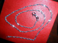 (34345) 1.2mm 28 in Sterling Silver Plated Twistwed chain necklace (Tagged 925)
