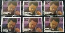 CHARLIE MINGUS Lot of 6 US Unused Postage Stamps MNH Jazz Bass Commemorative