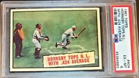 CENTERING!! 1961 Topps 404 Hornsby Tops N.L. With. 424 Average PSA EX MINT HOF!