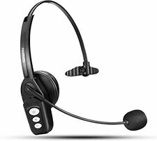 Bluetooth Headset V5.0, Pro Wireless with Noise Canceling Mic for Cell Phone