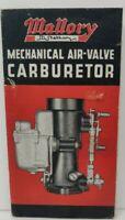 Mallory Mechanical Air Valve Carburetor Detroit Michigan Print Ad