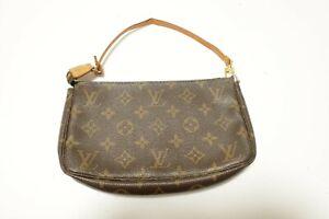 Authentic Louis Vuitton Monogram Pochette Accessories Pouch Bag  #9028