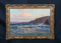 Large 19th Century English Sunset Seascape Coastal Landscape Alfred PARSONS
