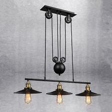 Vintage Pendant Light Kitchen Lamp Large Chandelier Lighting Black Ceiling Light