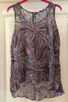 New Look Semi Sheer Floaty Top, Size 12 - Lovely!