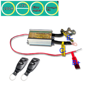 Car Battery Isolator Power Disconnect Wireless Remote Control Kill Switch 200A