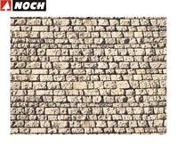"""NOCH H0/TT 57740 Mauerplatte """"Quaderstein"""" 64 x 15 cm (1 m² - 35,32 €) NEU + OVP"""