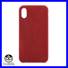 POWER SUPPORT Ultrasuede Air Jacket protection suede like case for iPhone X, Red