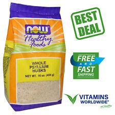 Now Foods, Whole Psyllium Husks, Healthy Foods, Cholesterol, 16 oz (454 g)