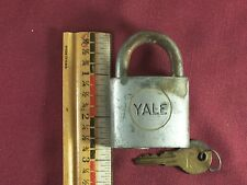 Vintage Yale Padlock with Working Key Old Gate or Shed Lock