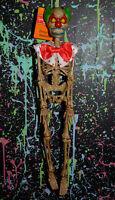 "16"" CREEPY CLOWN SKELETON hanging Halloween decoration horror jointed skeletal"