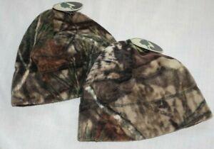 NWT! Lot of (2) Men's Adult MOSSY OAK Soft Fleece Winter Beanie Hats!