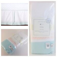 "New Pottery Barn Baby Rowan Crib Bed Skirt 28"" X 52"" – 100% Organic Cotton"