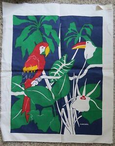 Marushka Tropical parrot toucan Screen Print Unframed Art fabric Canvas? (L10)