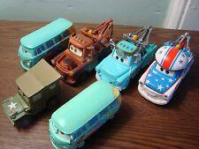 Disney Pixar 6 small Mattel Toy Cars Diecast ,Tow Mater Volkswagon Filmore Jeep