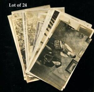 Rare Lot of 24 Antq Real Photo Photos c.1915 Unusual Topicals Leinenkugel