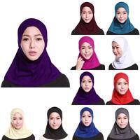 Scarf Hijab Hemp Muslim Fashion Shawl Islamic 10Colors Women's Durable