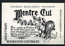 Etiquette de Vin - Alcool - Gevrey-Chambertin - Montre-Cul -Quillardet-Réf.n°188