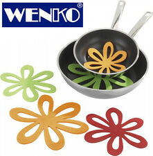 WENKO Anti-Slip Mats & Scratch Protectors for Pan/Table – Set of 6 Multicoloured