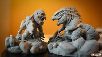 Chibi Godzilla vs Kong fanart figure Garage kit Model kit Not painted