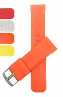 Bandini Silicone Watch Band Strap, 20mm,22mm & 24mm Comes in Black, Red & More