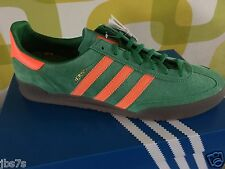 ADIDAS JEANS UK11 BNIBWT SPEZIAL GREEN/ORAN MONTREAL 80s CASUAL LONDON STOCKHOLM