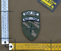 """Ricamata / Embroidered Patch """"ISAF SOF NATO OTAN"""" with VELCRO® brand hook"""