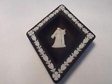 Euc Black Wedgwood diamond design white design made in england -