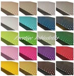 Polka Dot Spots - Wipe Clean PVC Tablecloth Oilcloth Vinyl Multiple Sizes