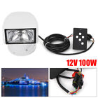 100W Remote Control Deck/Marine Lights White For Boat Spot Search Light